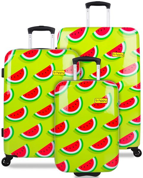 REAbags Cestovní kufr B.HPPY Two In A Melon sada