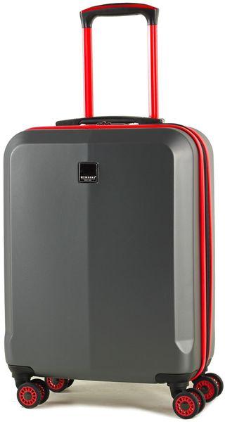 Member's Cestovní kufr TR-0150/3-S šedá/červená