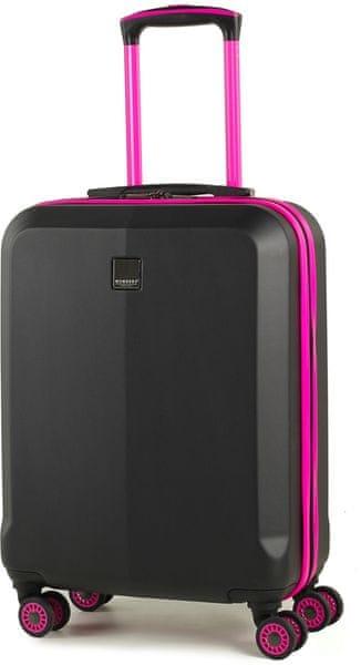 Member's Cestovní kufr TR-0150/3-S černá/růžová
