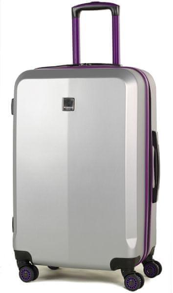 Member's Cestovní kufr TR-0150/3-M stříbrná/fialová