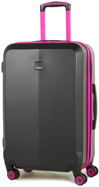Member's Cestovní kufr TR-0150/3-M černá/růžová