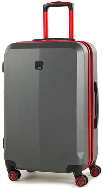Member's Cestovní kufr TR-0150/3-M šedá/červená