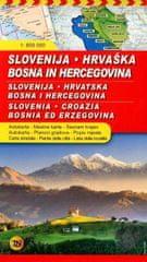 Avtokarta Slovenija, Hrvaška, Bosna in Hercegovina 1 : 600000