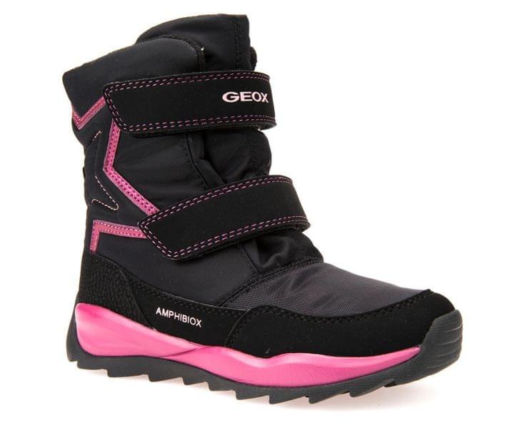 Geox dívčí zimní boty Orizont 27 černá/růžová