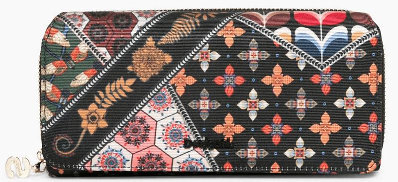 Desigual dámská černá peněženka Maria Retro Fresh