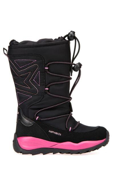 Geox dívčí sněhule Orizont 28 černá/růžová