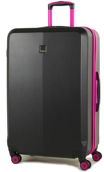 Member's Cestovní kufr TR-0150/3-L černá/růžová