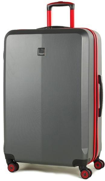 Member's Cestovní kufr TR-0150/3-L šedá/červená