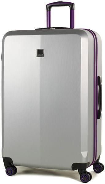 Member's Cestovní kufr TR-0150/3-L stříbrná/fialová