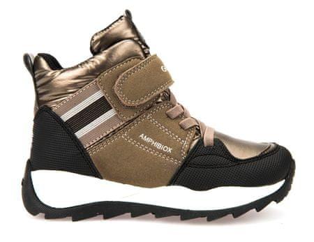 Geox dívčí zimní boty Orizont 33 zlatá
