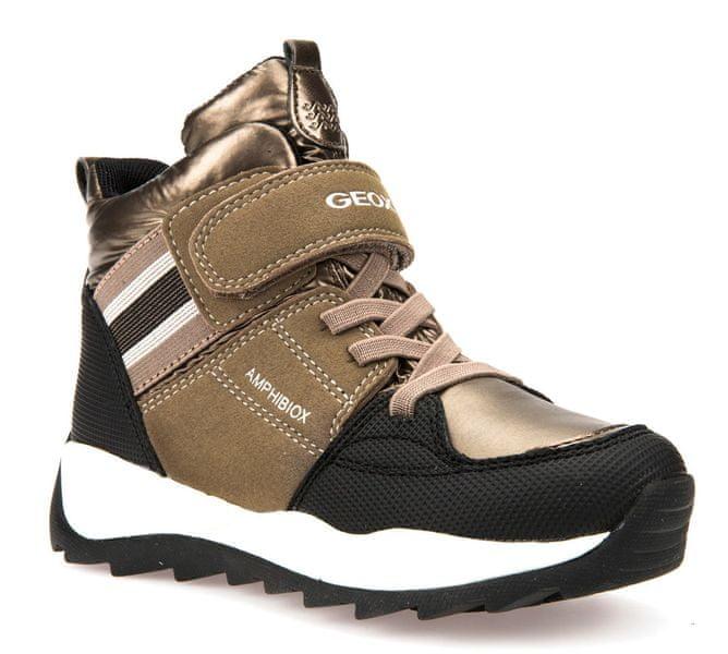 Geox dívčí zimní boty Orizont 35 zlatá
