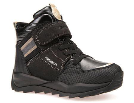 Geox dívčí zimní boty Orizont 34 černá  84ba1487ef