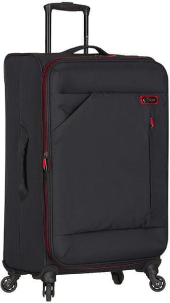 """AZURE Cestovní kufr Spirit """"L"""" černá/červená"""