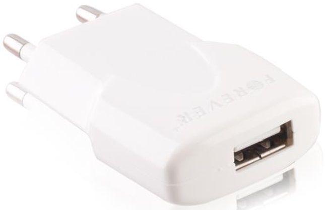 Forever Cestovní nabíječka Forever (Apple Iphone 5/6/7), 1 000 mAh, s oddělitelným kabelem, bílá