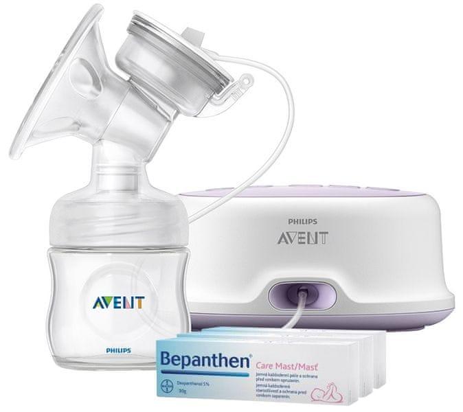 Philips Avent Odsávačka mateřského mléka Natural el. + Bepanthen