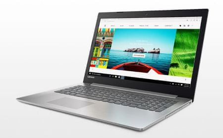 Lenovo prenosnik IdeaPad 320 i3-6006U/4GB/SSD 256/15FHD/Win10, bel (80XH008JSC)