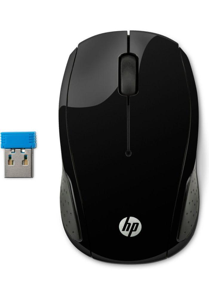 HP 200 bezdrátová myš, černá (X6W31AA)