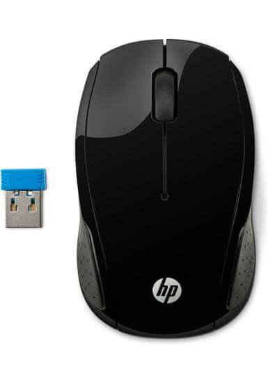 HP 200 mysz bezprzewodowa, czarna (X6W31AA)