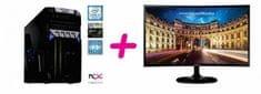 PCX namizni računalnik PCX EXAM i5-7400/8GB/SSD 240GB+HDD 1TB/GTX1050Ti/FreeDOS + Monitor Samsung C27F390FHU