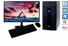PCX namizni komplet Exam i3-7100/4GB/SSD120 GB+1TBHDD/W10H + Monitor Samsung S24F350FHU