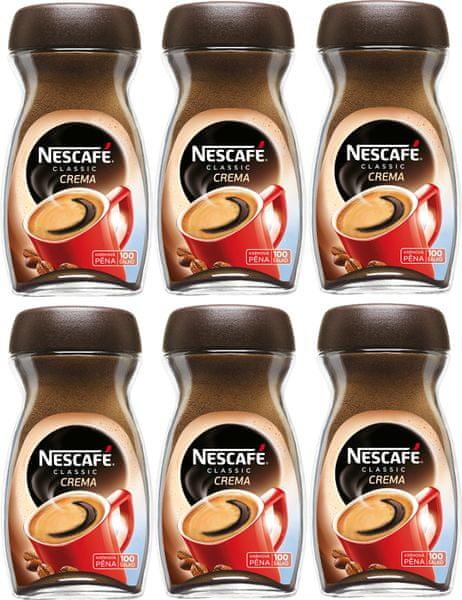 Nescafé CLASSIC crema instantní káva 6x200g