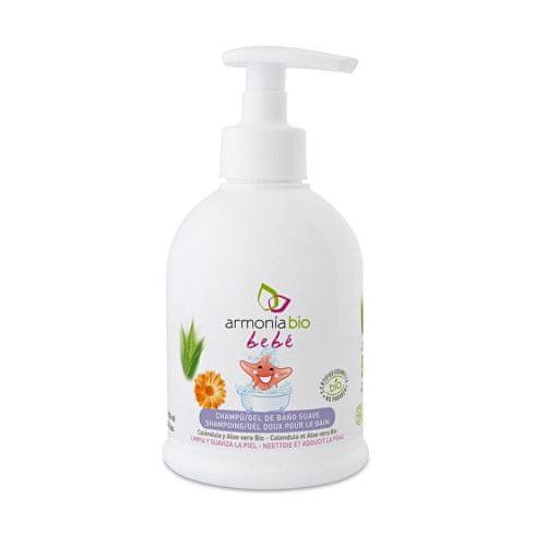 BIO Jemný dětský šampón-gel do koupele Bebé 300 ml