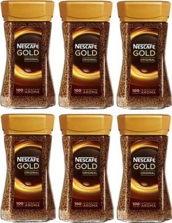 NESCAFÉ Gold Original instantná káva 6x200 g