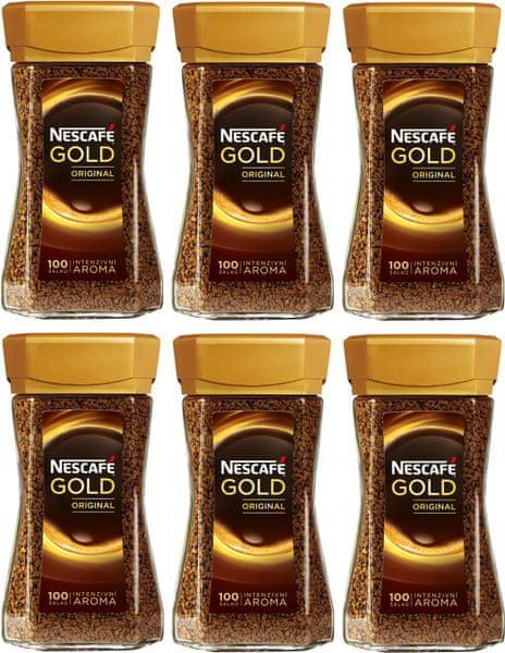 NESCAFÉ Gold Original instantní káva 6x200 g