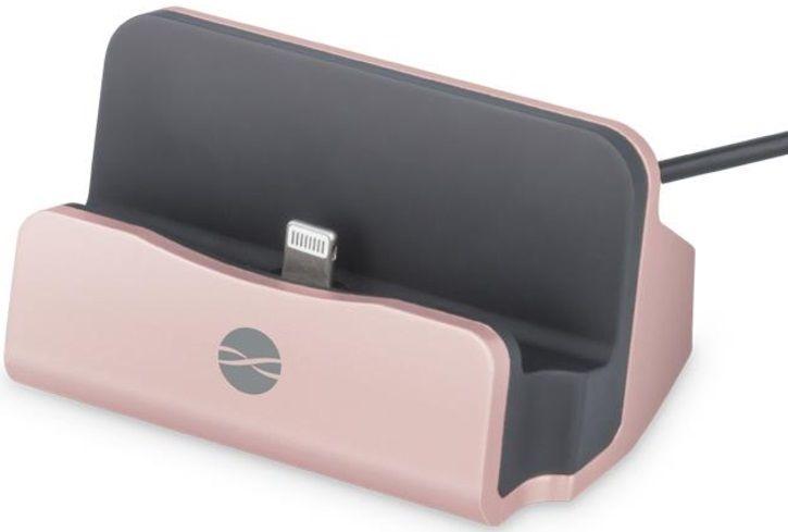 Forever Nabíjecí stojánek Forever (Apple Iphone 5/6), růžová zlatá