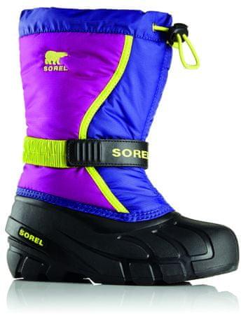 Sorel otroški zimski škornji Flurry, vijolični, 33