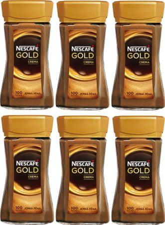 NESCAFÉ Gold Crema instantná káva 6x200 g