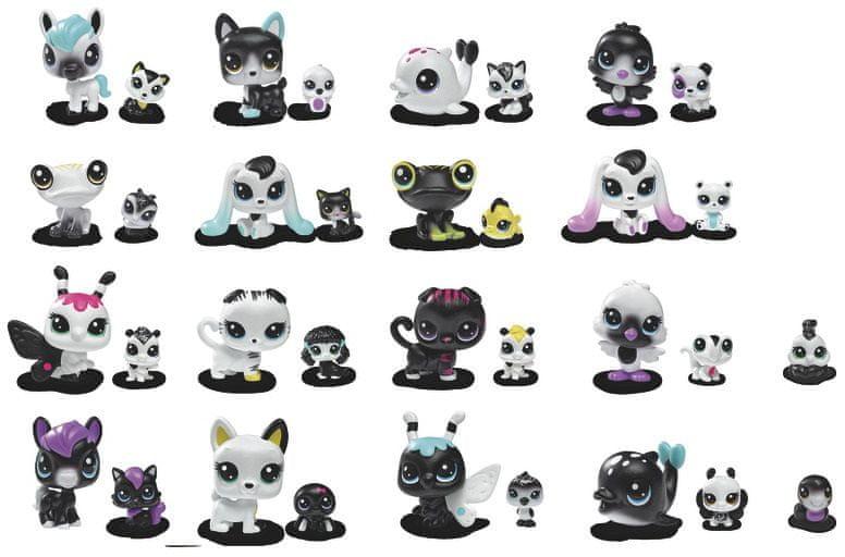 Littlest Pet Shop Černobílý set - 8 ks zvířátek