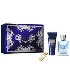 Versace Pour Homme - EDT 100 ml + šampón 100 ml + spona na bankovky