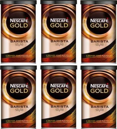 NESCAFÉ GOLD Barista Style instantná káva 6x100g