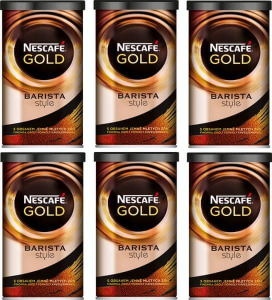 NESCAFÉ GOLD Barista Style instantní káva 6x100g