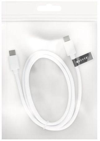 Forever Dátový kábel Forever, USB 3.0 Type-C, biela