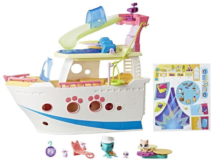 Hasbro Littlest Pet Shop Hrací set Výletní loď se 3 zvířátky
