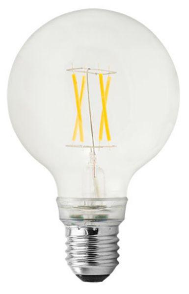 GE Lighting LED žárovka, Filament Globe, E27 6,5W, teplá barva