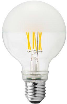 GE Lighting LED žárovka, Filament Globe, E27 6,5W, teplá barva matná