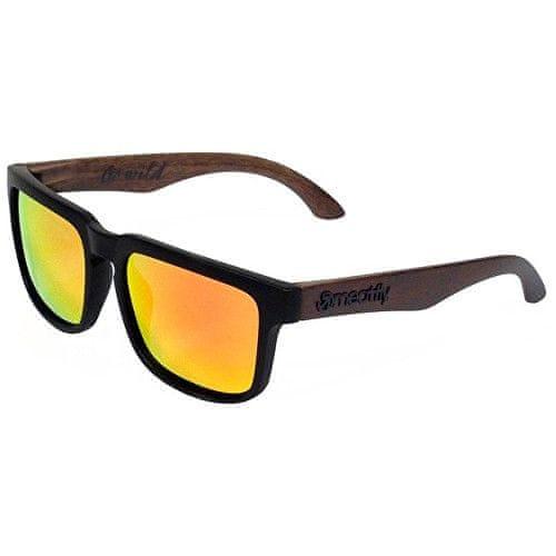 MEATFLY Sluneční polarizační brýle Craft B-Polarized - Black, Brown Wood