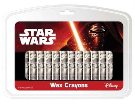Star Wars voščene barvice, 12/1, blister