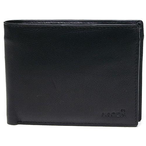 Lagen Pánská kožená peněženka Black W-8053