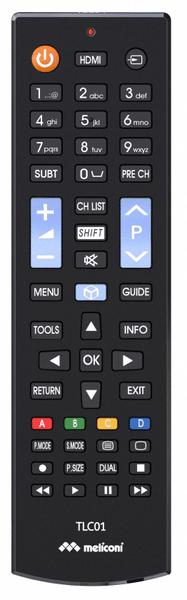 Meliconi TLC01, univerzální ovladač TV Samsung