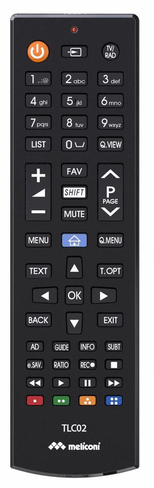 Meliconi TLC02, univerzální ovladač TV LG