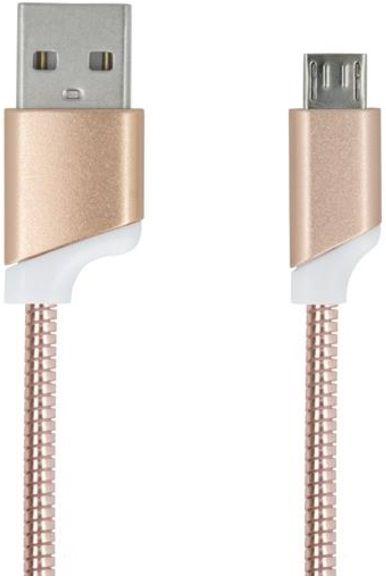 Forever Datový kabel, Micro-USB, růžová zlatá