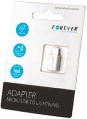 Forever Redukce (Micro-USB - Lightning), bílá