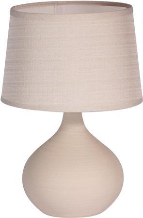 TimeLife Stolní lampa keramická 29 cm, béžová