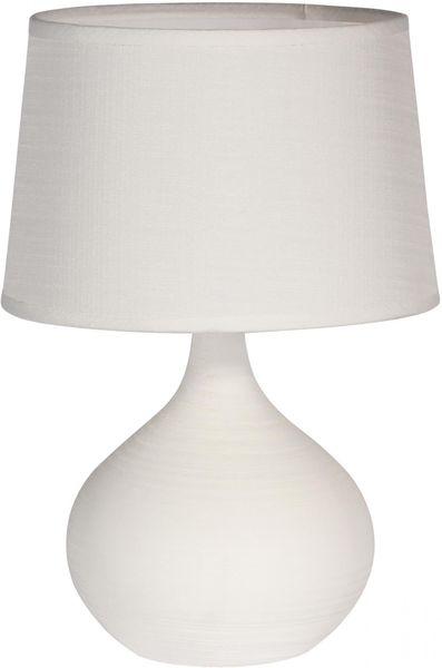 Time Life Stolní lampa keramická 29 cm, bílá