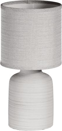 TimeLife Stolní lampa keramická 33 cm, šedá