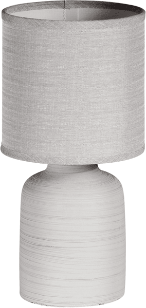 Time Life Stolní lampa keramická 33 cm, šedá